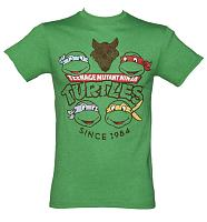 Men's Green Teenage Mutant Ninja Turtles Since 1984 T-Shirt