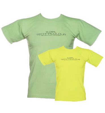 Unisex Green To Yellow Heat Sensitive T-Shirt from Global Technacolour