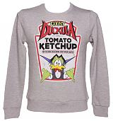 Men's Grey Count Duckula Ketchup Sweater