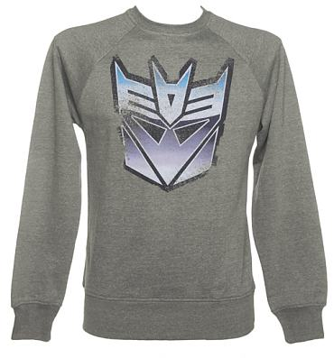 Men's Grey Decepticon Transformers Sweater