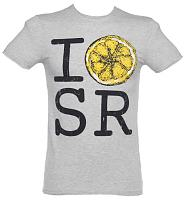 Men's Grey Marl I Love Stone Roses Lemon T-Shirt from Amplified Vintage