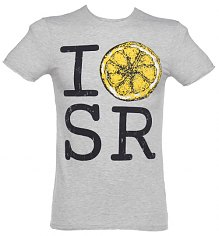 Men's Grey Marl I Love Stone Roses Lemon T-Shirt from Amplified Vintage [View details]