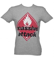 Men's Grey Marl Massive Attack T-Shirt from Amplified Vintage [View details]