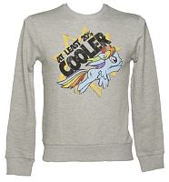 Men's Grey Marl My Little Pony Friendship Is Magic Rainbow Dash Sweater