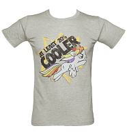 Men's Grey Marl My Little Pony Friendship Is Magic Rainbow Dash T-Shirt
