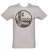 Men's Grey Marl Specials Two Tone Records Logo T-Shirt from Dirty Cotton Scoundrels