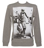 Men's Grey Marl Star Wars Boombox Trooper Sweater from Chunk