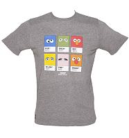 Men's Grey Marl Street Colours T-Shirt from Chunk