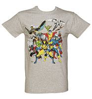 Men's Grey Marl X-Men Ready For Battle Marvel T-Shirt