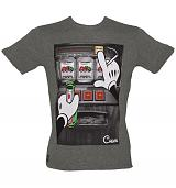 Men's Grey Mouse Hands Fruit Machine T-Shirt from Chunk