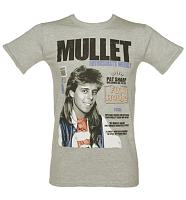Men's Grey Pat Sharp Mullets Enthusiast T-Shirt