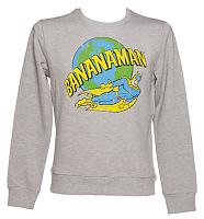 Men's Grey Retro Bananaman Jumper