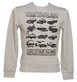 Men's Grey Retro Star Cars Jumper