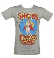 Men's Grey Marl She-Ra Princess Of Power T-Shirt