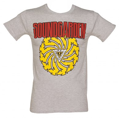 Men's Grey Soundgarden Badmotor Finger T-Shirt