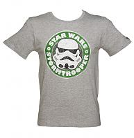 Men's Grey Stormtrooper Emblem Star Wars T-Shirt