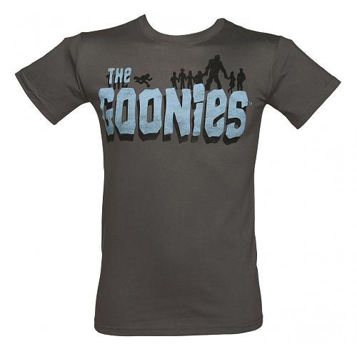 Men's Grey The Goonies Logo T-Shirt