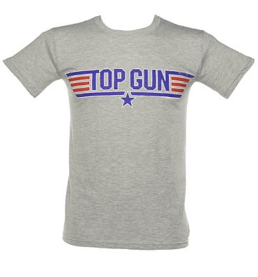 Men's Grey Top Gun Logo T-Shirt