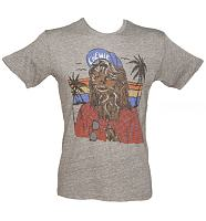 Men's Grey Triblend Chewie Hipster Star Wars T-Shirt from Junk Food