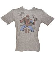 Men's Grey Triblend Spiderman I'm Postin This T-Shirt from Junk Food
