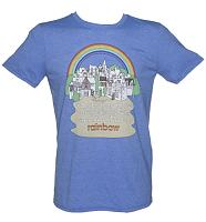 Men's Heather Blue Rainbow Theme Tune T-Shirt