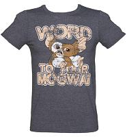 Men's Heather Navy Word To Your Mogwai Gremlins T-Shirt