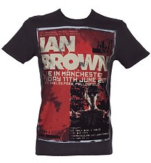 Men's Ian Brown Poster Charcoal T-Shirt from Amplified Vintage [View details]