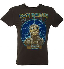 Men's Iron Maiden Mummy Charcoal T-Shirt from Amplified Vintage [View details]