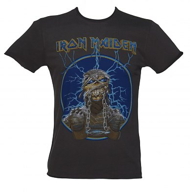 Mens Iron Maiden Mummy Charcoal TShirt from Amplified Vintage