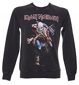 Men's Iron Maiden Trooper Charcoal Sweater from Amplified Vintage