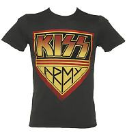 Men's KISS Army Charcoal T-Shirt from Amplified Vintage
