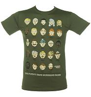 Men's Khaki Guess Who Faces T-Shirt