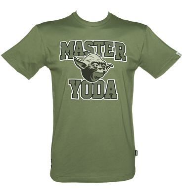 Men's Khaki Star Wars Master Yoda T-Shirt from Addict