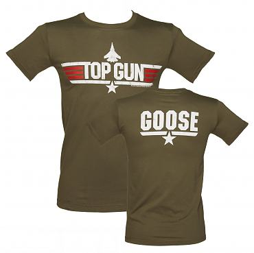 Men's Khaki Top Gun Goose T-Shirt