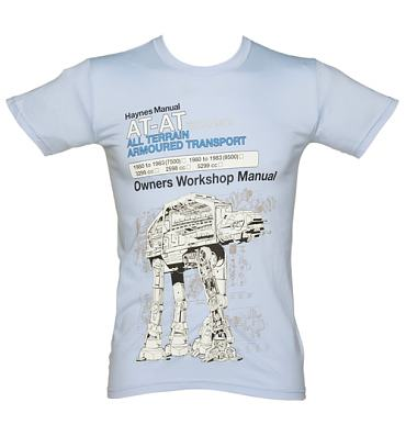 Men's Light Blue Haynes Manual AT-AT Star Wars T-Shirt