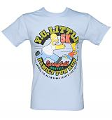 Men's Light Blue Homer Family Fun Run Simpsons T-Shirt