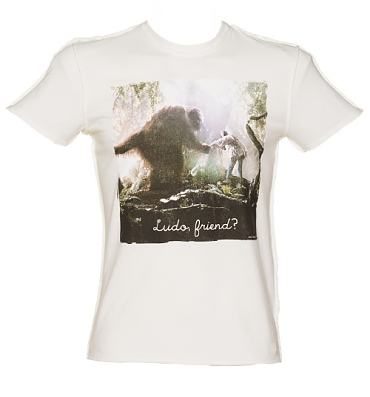 Men's White Ludo And Sarah Friend Labyrinth Vintage T-Shirt