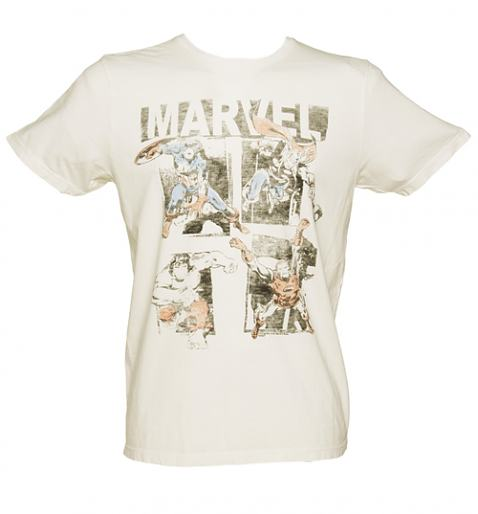 Men's Marvel Avengers Vintage Print T-Shirt