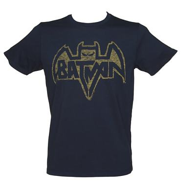 Men's Navy Batman Logo T-Shirt from Junk Food