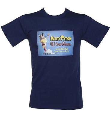 Men's Navy Holy Grail Monty Python T-Shirt