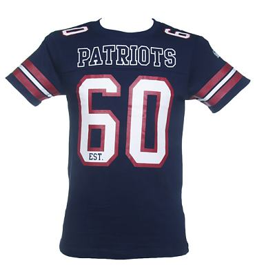 Men's Navy NFL New England Patriots Lineman T-Shirt from Majestic Athletic