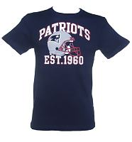 Men's Navy New England Patriots Pitchout T-Shirt from Majestic Athletic