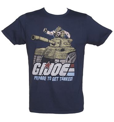 Men's Navy Prepare To Get Tanked GI Joe T-Shirt from Junk Food