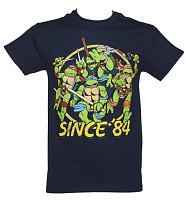 Men's Navy Since '84 Teenage Mutant Ninja Turtles T-Shirt