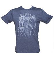Men's Navy Star Wars Disco Dancing Stormtroopers T-Shirt from Junk Food