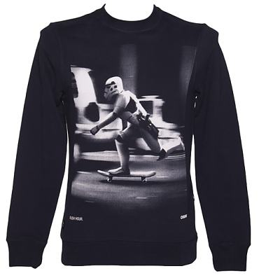 Men's Navy Star Wars Stormtrooper Skating Sweater from Chunk