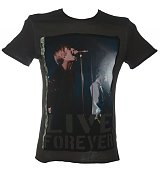Men's Oasis Live Forever Charcoal T-Shirt from Amplified Ikons