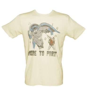 Men's Off White Batman And Robin Here To Party T-Shirt from Junk Food