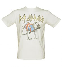 Men's Off White Def Leppard Bulldog T-Shirt from Junk Food [View details]