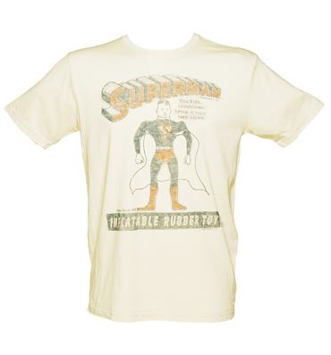 Men's Off White Superman Inflatable T-Shirt from Junk Food